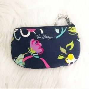 Vera Bradley Ribbons Clip Zip ID Holder Floral